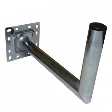 45cm Heavy Duty, Galvanised, Satellite L- Shaped Wall Bracket