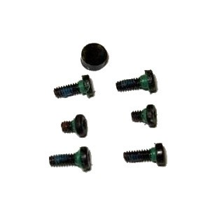 Motorola ES400 Replacement Outer Screw Set & Rubber Cap (x7 Pieces) Genuine OEM