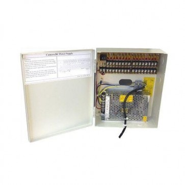 SAC SE9640 12V/10A 16-Way CCTV Power Supply Box