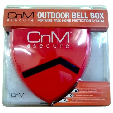 CnM Secure Outdoor Alarm Bell Box for Wire-Free Home Protection System