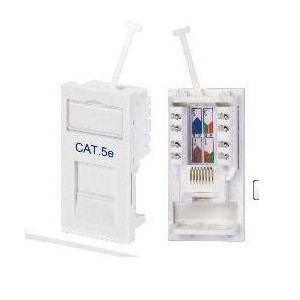 RJ45 CAT5E Module Socket - White