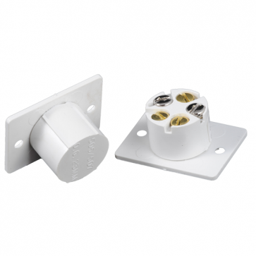 CQR White Magnetic Flush Contact