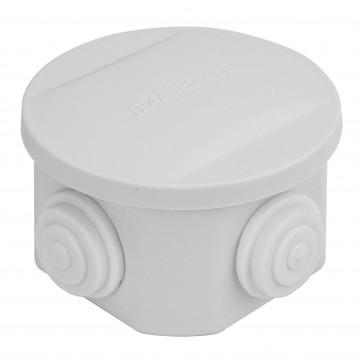 Round Junction Box 85x85x50mm (White)