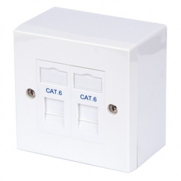 Philex Twin CAT6 and RJ45 Outlet Kit