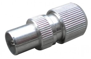 IEC male aluminium coax plug for RG6 x 100