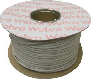 Webro 2 Pair Telephone Cable ZSPEC002 Drum 200m WHITE