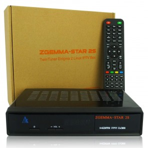 ZGemma Star 2S DVB-S2 Twin Tuner Satellite TV Receiver (Black)
