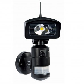 Nightwatcher AC LED Floodlight + HD camera + 4GB SD Card - Black