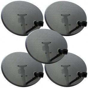 Triax 44cm Mesh Satellite Dish + Single LNB - Installer Pack of 5