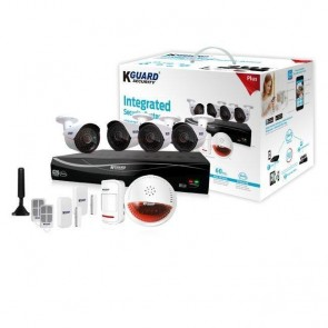 KGuard 8 Channel CCTV Alarm System with 4x AHD 720p Cameras plus Wireless Alarm Kit