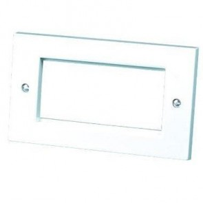 4 Gang Snap In Module Faceplate - White