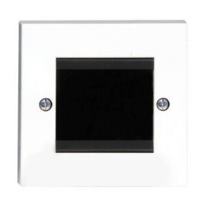 2-Gang Cable Entry / Exit Wall Plate in White