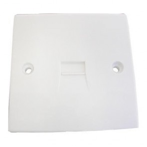 SAC UK Flush Telephone Outlet Plate (SLAVE)