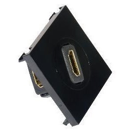 HDMI Outlet Module Face Plate 50x50 Black