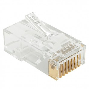 RJ45 Cat5E Crimp-on Connector x 100