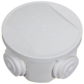 Round Junction Box 50x50x30mm (White)