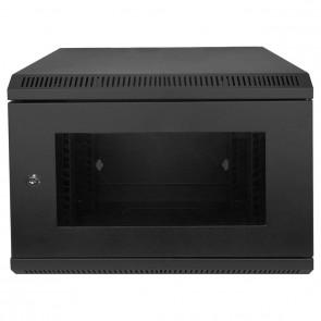 "MaxxOne 10"" Network Data 6U Server Security Cabinet Wall Rack (Black)"