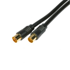 Gold Fly Lead Plug to Socket - 2M Black