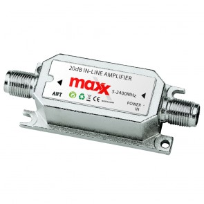 MaxxOne 20 dB In- Line Amplifier