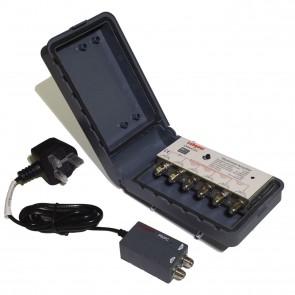 4 Way Variable Gain Masthead Amplifier Kit - 10dB