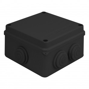 External Junction Box 100x100x70mm (Black)