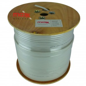Maxx Digital MX100 75ohm Copper Foam Filled Coaxial Cable 250m (White)