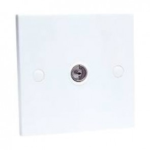 SAC SAAE0063 Single Gang IEC Wall Plate (Non Isolated)