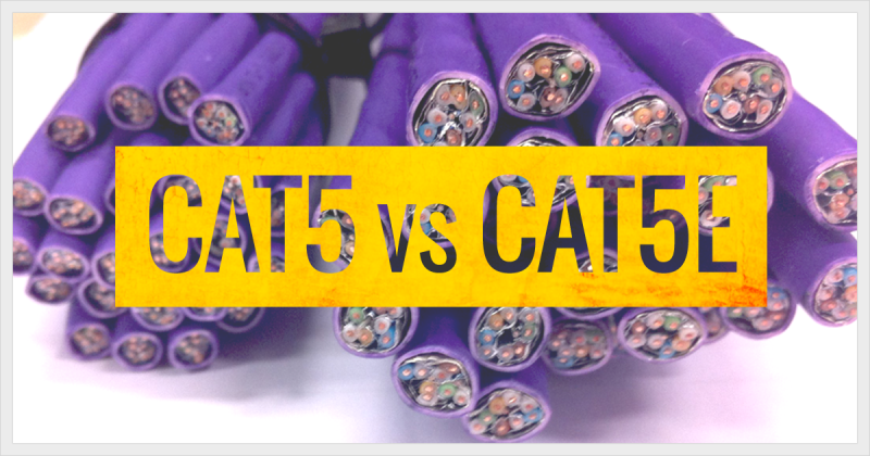 The difference between CAT5 and CAT5e