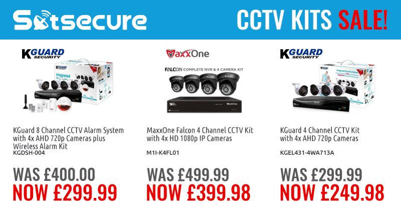 Take advantage of the KGuard and MaxxOne CCTV Kits Sale