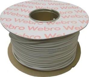 Webro 2 Pair Telephone Cable ZSPEC002 Drum 200m WHITE