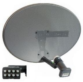 Raven 45cm Mesh Satellite Dish  + 4 x Bolts & Plugs + Zinwell Octo LNB