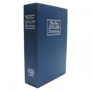 BookSafe Dictionary-style Discreet Metal Cash Box Medium 180x115x55 (Blue)