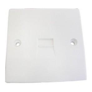 SAC UK Flush Telephone Outlet Plate (SLAVE)