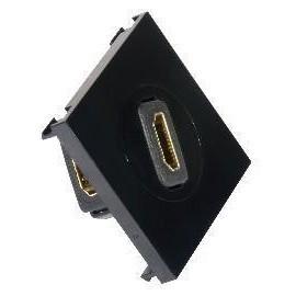 HDMI Outlet Module Face Plate 50x50 Black