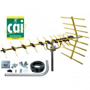 SLx 48 Element Gold Digital TV Aerial Kit - High Gain