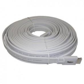 SAC AE0536 15m Flat HDMI Lead 2.0 3D/2160P (White)