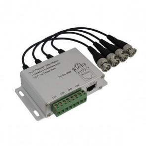 4 Channel BNC to RJ45/Screw Passive CCTV Video Balun