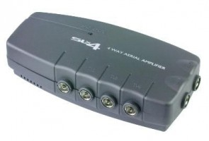SLx Four Output Aerial Distribution Amplifier - 4G Compatible