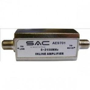 SAC AE9701 In-line Satellite Amplifier 20dB Signal Booster