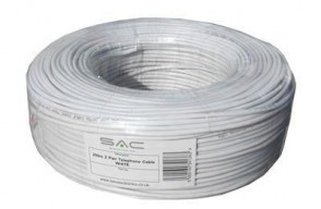 SAC 2 Pair Telephone Cable ZSPEC026 Drumless 200m WHITE