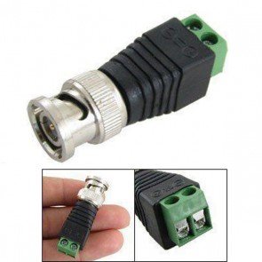 Screw Terminal to BNC Male Video Balun (Pack of 10)