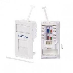 RJ45 CAT5E Module Socket - White