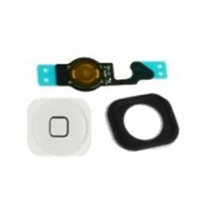 iPhone 4S Replacment Home Button Complete Includes Gasket Plastic & Flex WHITE