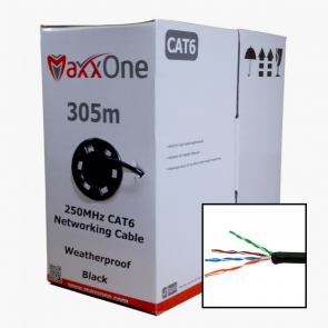 Outdoor CAT6 Cable 305M (Black)