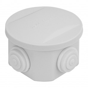 Round Junction Box 85x85x50mm (White)