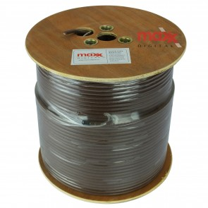 Maxx Digital MX100 75ohm Copper Foam Filled Coaxial Cable 250m (Brown)