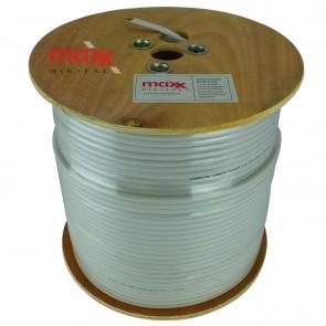 Maxx Digital MX100 75ohm Copper Foam Filled Coaxial Cable 250m (White)