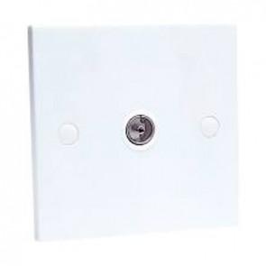 SAC SAAE0063 Single Gang IEC Wall Plate (Non Isolated)